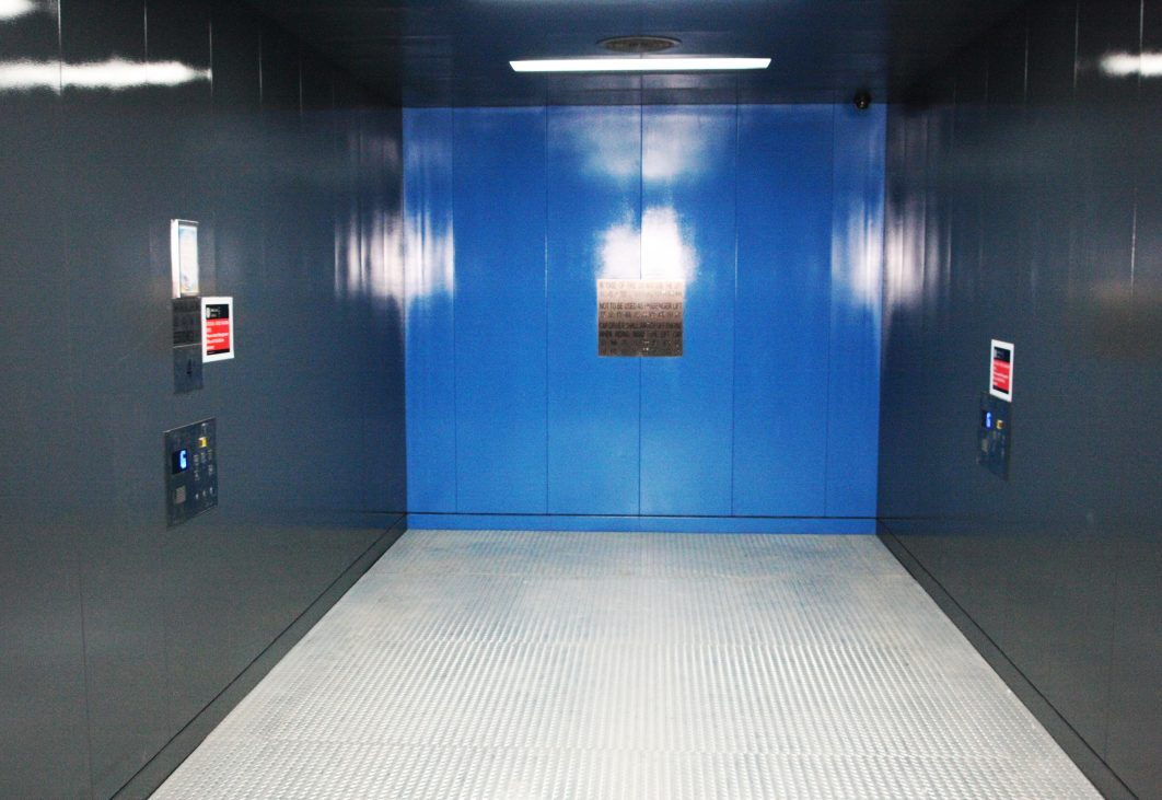 Goods lift interior
