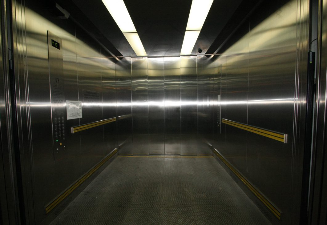 Interior of goods lift